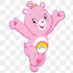 Pink Cartoon - Cheer Bear Grams Bear Care Bears Wish Bear PNG