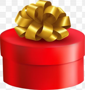 Cartoon Red Gift Box - Gift Paper Box Clip Art PNG