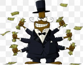 Crazy Catch The Money Of The Rich - Cartoon Human Behavior Homo Sapiens Illustration PNG