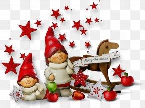 Holly Christmas Decoration - Santa Claus PNG