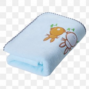 Blue Child Towel Was - Towel Textile Blue PNG