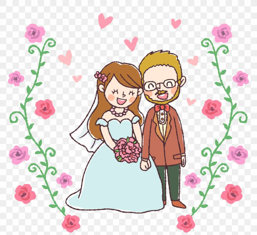 Wedding Invitation Drawing Marriage Echtpaar, PNG, 1024x939px, Watercolor, Cartoon, Flower, Frame, Heart Download Free