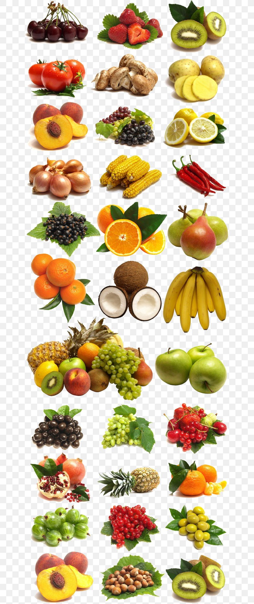 A Large Collection Of Fruits And Vegetables, PNG, 658x1945px, Fruit, Auglis, Cucumber, Diabetes Mellitus, Diabetes Mellitus Type 2 Download Free