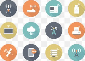 Vector Radio Icon Flat - Wireless Euclidean Vector Wi-Fi Icon PNG