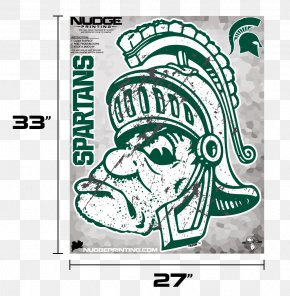 Wall Decal - Michigan State Spartans Men's Basketball Sparty University Wall Decal PNG