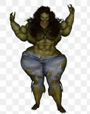 She Hulk - Demon Legendary Creature Muscle Cartoon Organism PNG