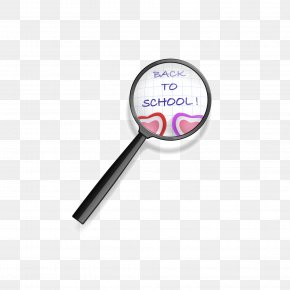 Under The Magnifying Glass Back To School - Paper Magnifying Glass Euclidean Vector PNG