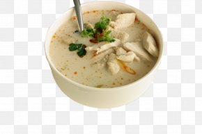 Hainan Coconut Chicken Soup - Coconut Milk Tom Kha Kai Thai Cuisine Tom Yum Chicken Soup PNG