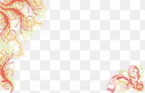 Floral Background - Wedding Invitation Desktop Wallpaper PNG