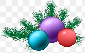 Christmas Balls Decoration Clip Art - Christmas Gift Drawing Clip Art PNG
