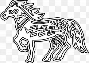Horse Line Art - Coloring Book Line Art Clip Art PNG