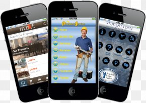 Mobile - IPhone Telephone Smartphone Mobile App Development PNG