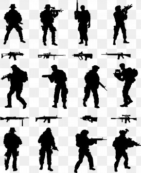 Ink Soldier - Soldier Silhouette Royalty-free PNG