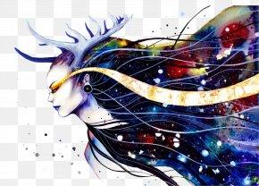Goddess Of The Milky Way - Visual Arts Drawing Watercolor Painting PNG