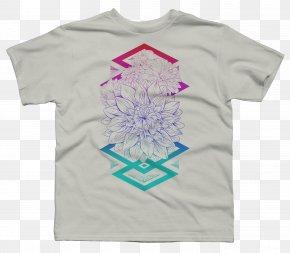 Printed T-shirt Garment Fabric Pattern Shading Pat - Printed T-shirt Long-sleeved T-shirt PNG