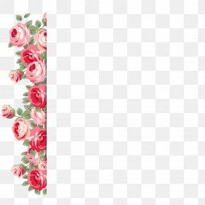 Valentine's Day And Wedding Pattern Sidebar - Beach Rose Flower Valentine's Day Wedding PNG