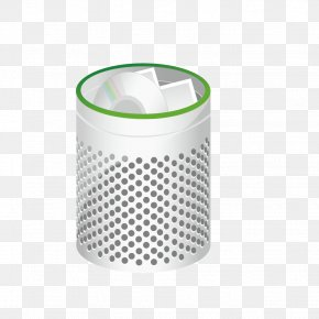 Vector Metal Trash Can - Waste Container Recycling Bin PNG