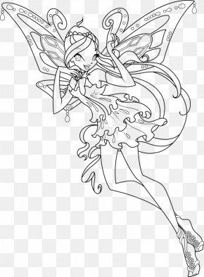 Watercolor Blooming - Bloom Coloring Book Aisha Sirenix Fairy PNG