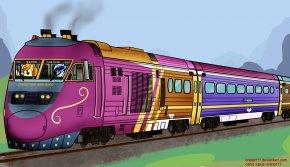 Train - Express Train Rail Transport Locomotive Track PNG