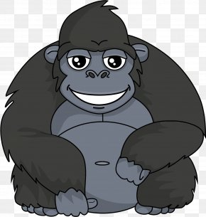 Free Gorilla - Western Gorilla Pan Drawing Clip Art PNG