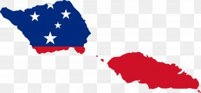 American Flag - Flag Of Samoa Blank Map PNG