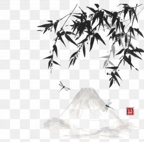 Chinese Painting - Japan Ink Wash Painting Landscape Painting PNG