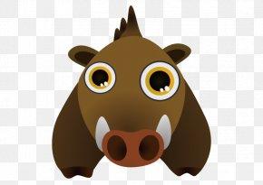 Vector Wild Boar - Wild Boar Cartoon Drawing Clip Art PNG