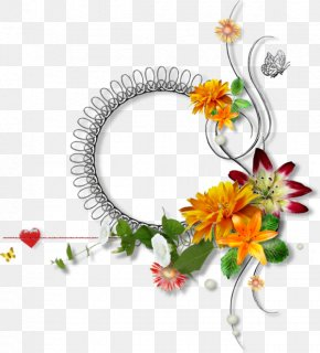 Wreath Frame Decorative Plants - Flower Wreath PNG