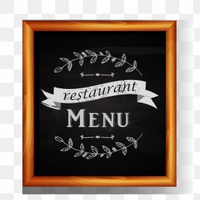 Black Frame Vector - Menu Blackboard Restaurant Food PNG