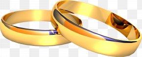 Wedding Golden Rings Image - Wedding Ring Engagement Ring PNG