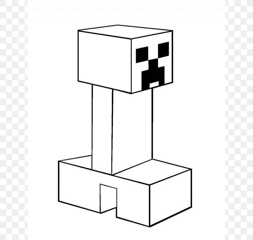 Minecraft Coloring Book Creeper Mob Video Game, PNG, 640x779px, Minecraft,  Adult, Area, Beautiful Minecraft, Black And