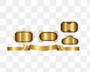 Gold Frame - Gold PNG