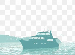 Decorative Illustration Yacht Vector - Boat Yacht Fishing Watercraft Illustration PNG
