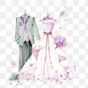 Bride Groom - Wedding Dress Marriage Formal Wear Bride PNG