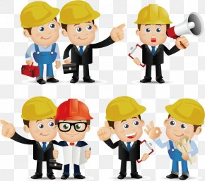 Construction Engineer Cartoons - Architectural Engineering Euclidean Vector Architecture PNG
