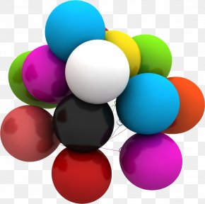 Colored Balloons - Balloon 3D Rendering PNG