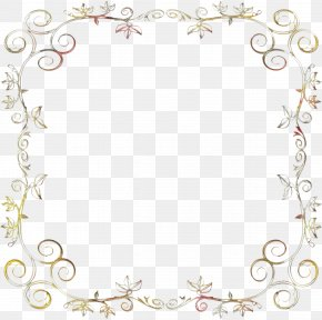 Ornament Picture Frame - Watercolor Background Frame PNG