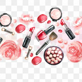 Makeup Vector Background - Lip Balm Cosmetics Lipstick Beauty Parlour Cosmetic Packaging PNG