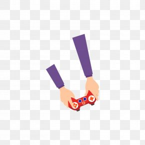 The Arm Of The Purple Game Handle - Video Game Gamepad Illustration PNG