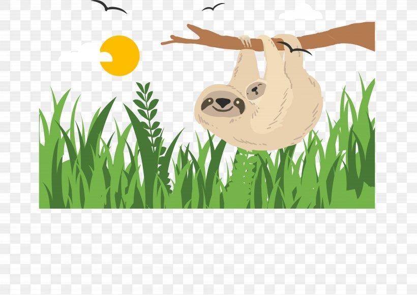 Sloth, PNG, 7242x5137px, Sloth, Brand, Cartoon, Computer Graphics, Fauna Download Free