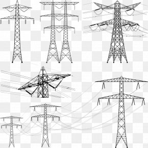 High Voltage Wire - Transmission Tower Overhead Power Line Electric Power Transmission Electricity PNG