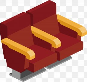 Red Cinema Seat - Seat Chair Cinema PNG