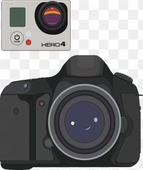 Digital Cameras SLR Camera Vector - Digital SLR Single-lens Reflex Camera Camera Lens PNG