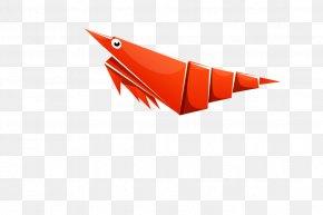 Shrimp - Paper Origami Shrimp PNG