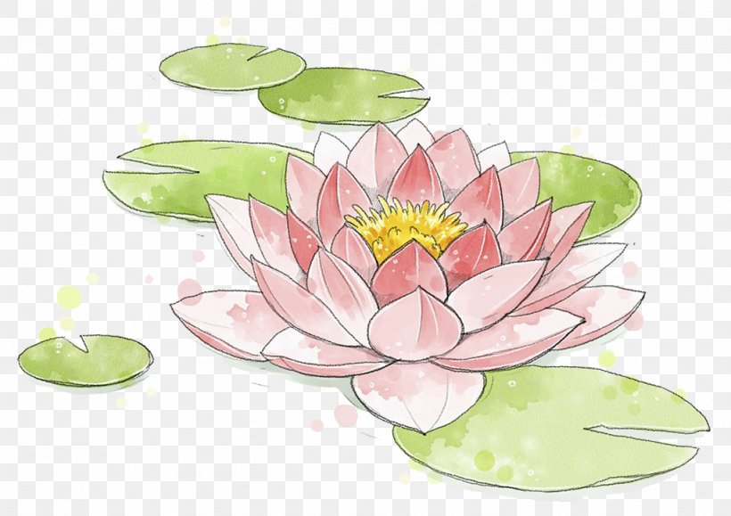 Watercolor Painting Nelumbo Nucifera, PNG, 1024x724px, Watercolor Painting, Color, Flora, Floral Design, Floristry Download Free