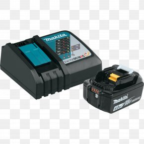 Battery Charger - Battery Charger Makita Lithium-ion Battery Electric Battery Ampere Hour PNG