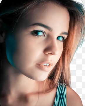 Cheek Hairstyle - Face Hair Eyebrow Beauty Blue PNG