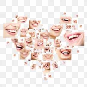 Heart-shaped Smiley Teeth - Smile Stock Photography Dentistry Human Tooth Shutterstock PNG
