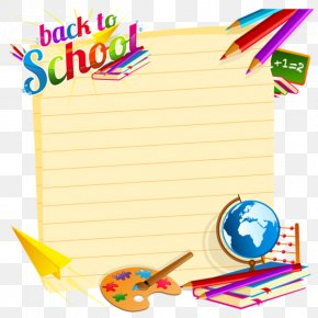 School - Borders And Frames Clip Art For Back-To-School Vector Graphics PNG