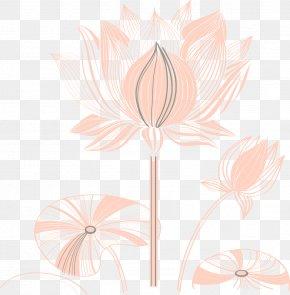 Lotus Line - Flora Art Petal Pattern PNG